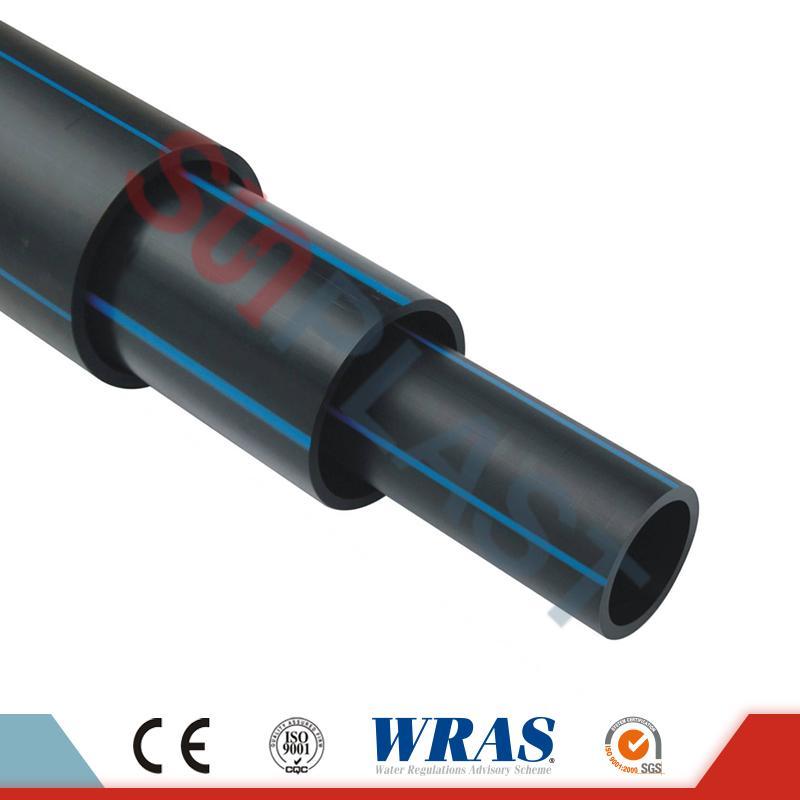 HDPE Pipe (Poly Pipe) باللون الأسود / الأزرق لإمدادات المياه