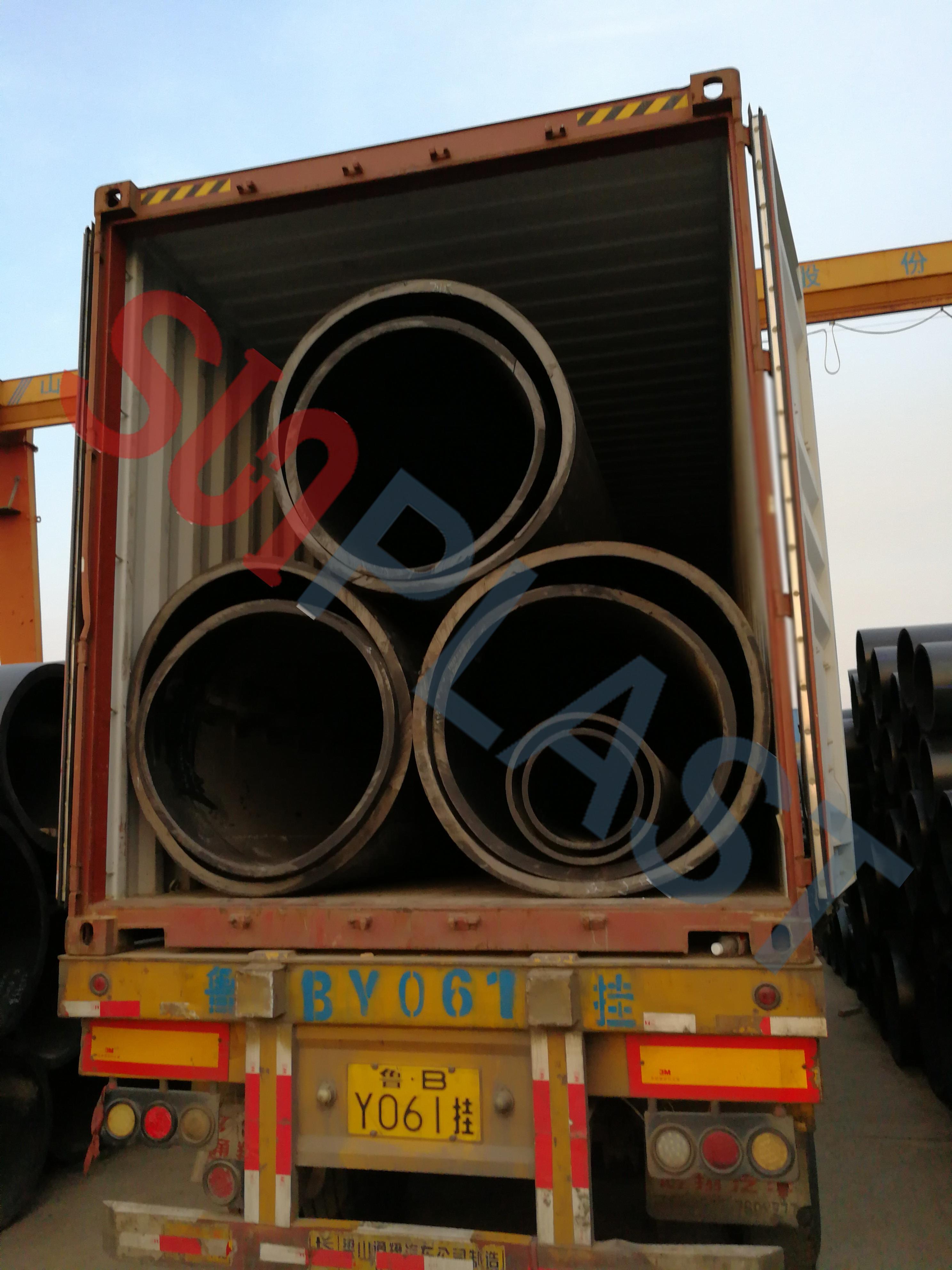 SUNPLAST DN1000 / DN1200mm الكثافة الأنابيب إلى أستراليا